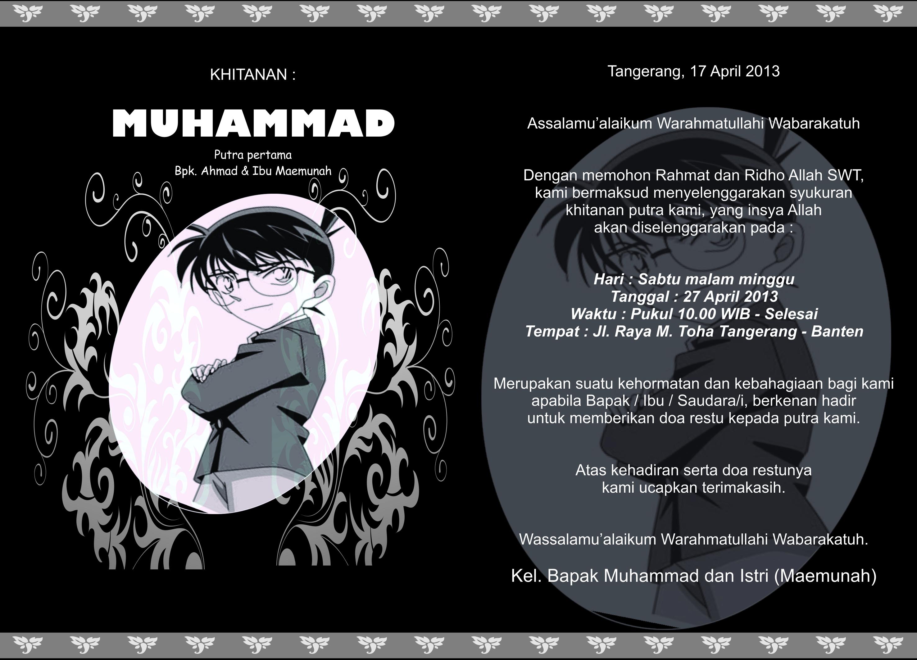 Contoh Undangan Khitanan Ahmadkahfi